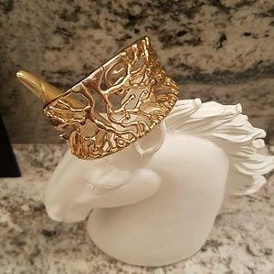 Gold Vermeil Coral Cuff